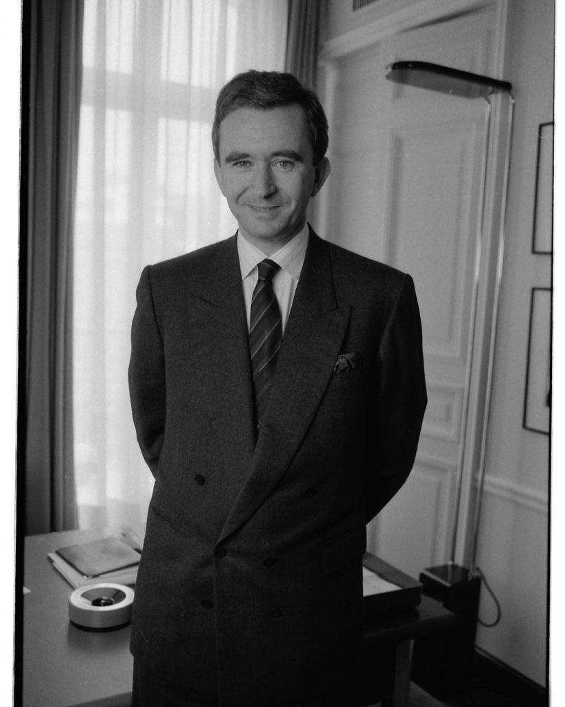 Bernard Arnault en enero de 1987
