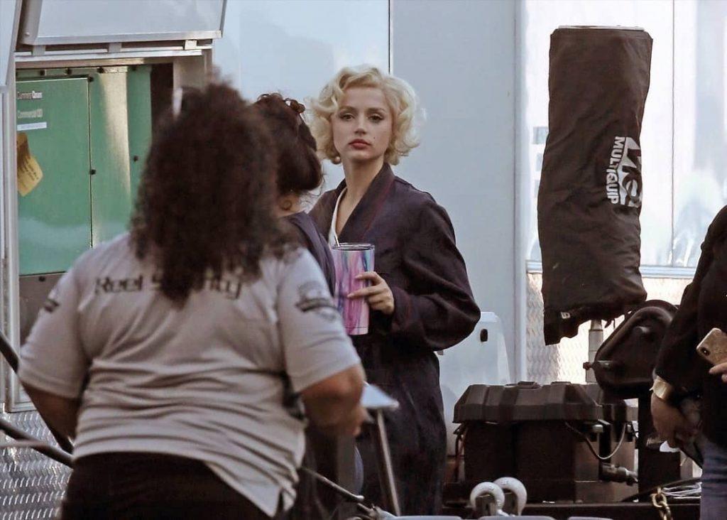 Marilyn Monroe rodaje