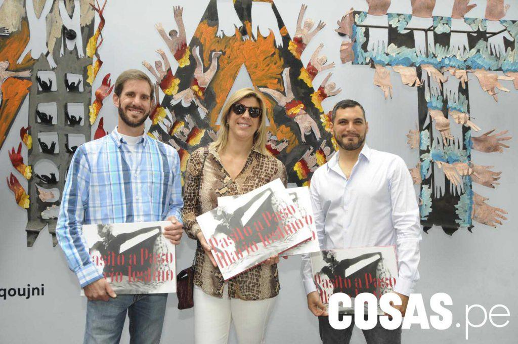 Manuel Pestana, Rosemarie Schuller y Gonzalo Céspedes.