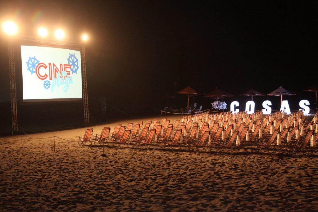 cine en playa COSAS