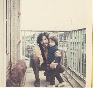 Gerardo Chávez con su hijo Iván