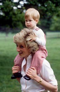 princesa Diana y Harry