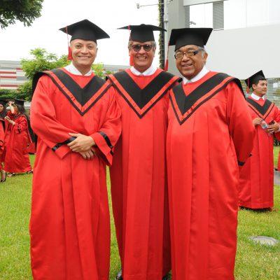 Carlos Figueroa, Marco Hurtado y Domingo Marañón.