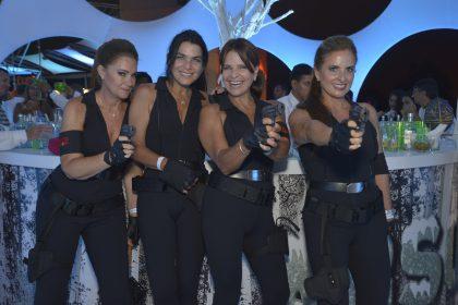 Fiesta de Playa Blanca en el 2018 Ximena Bentín Claudia Carrión Carmen Velasco y Patty Perales