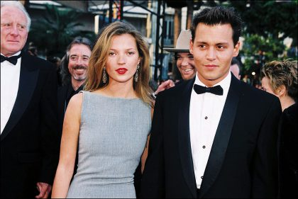 Johnny Depp y Kate Moss, 1997