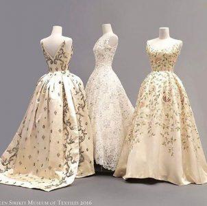 Estos delicados vestidos se lucen en el museo de Sirikit, en Bangkok.