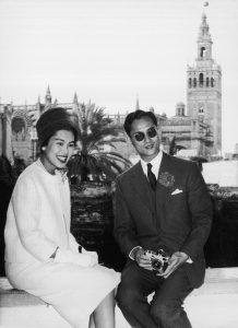 Lo reyes de Tailandia durante una visita a España, en 1960.