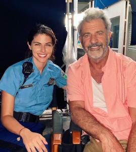 Stephanie cayo y Mel Gibson