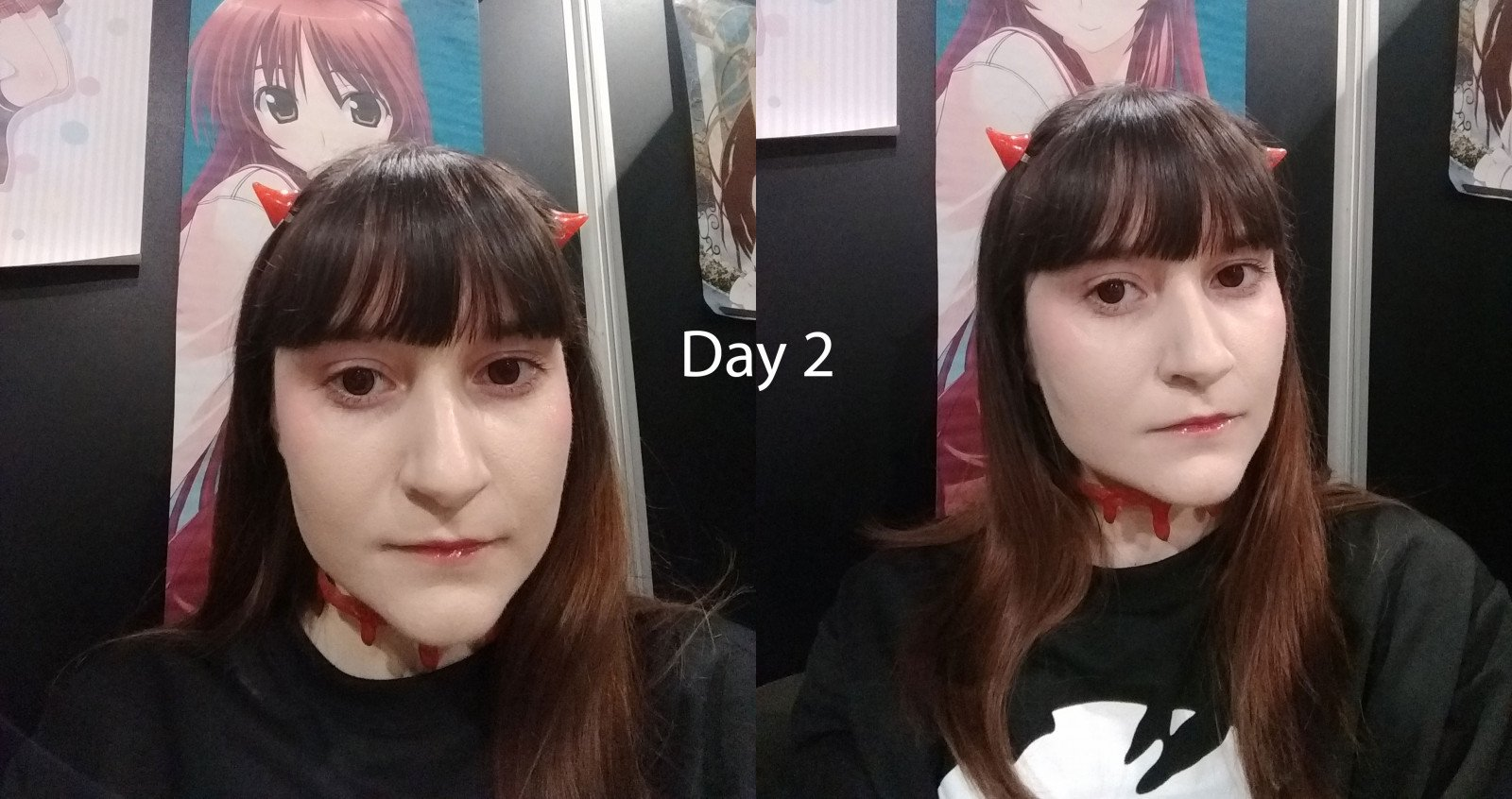 My J-Fashion coord, titled 'eyes', in black-and-red theme. - DCC Day 2