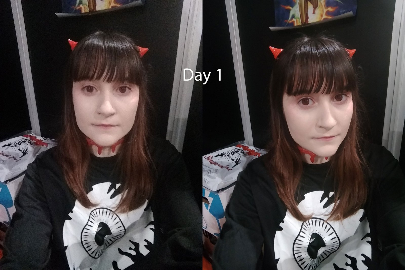 My J-Fashion coord, titled 'eyes', in black-and-red theme. - DCC Day 1