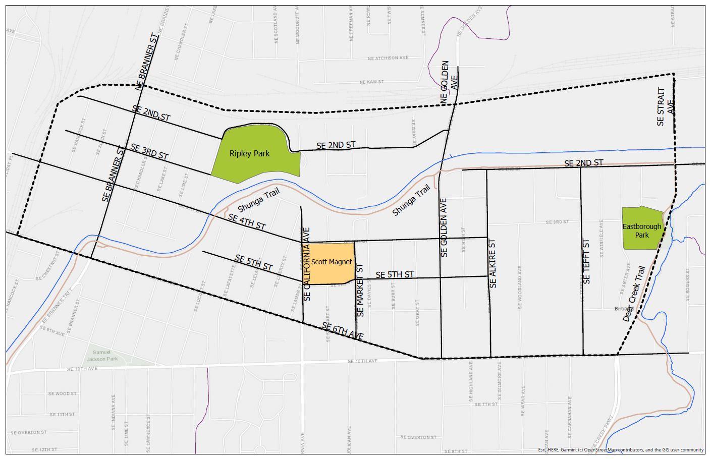 East Topeka North Map