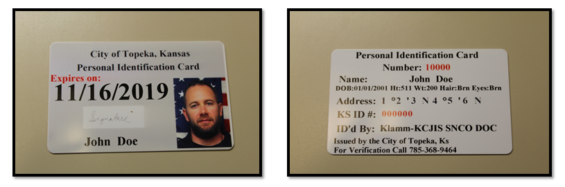 Topeka Police Unveil Identification Cards For The Unsheltered City