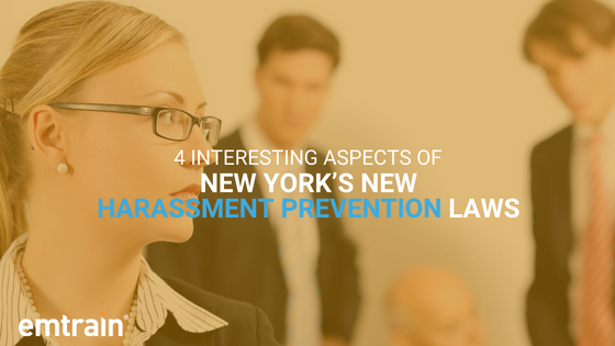 4 Interesting Aspects of New York's New Harassment Prevention Laws