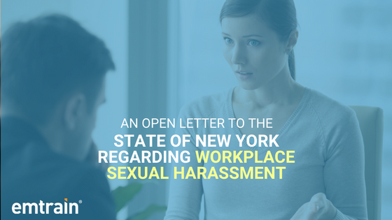An Open Letter to the State of New York Regarding Workplace Sexual Harassment