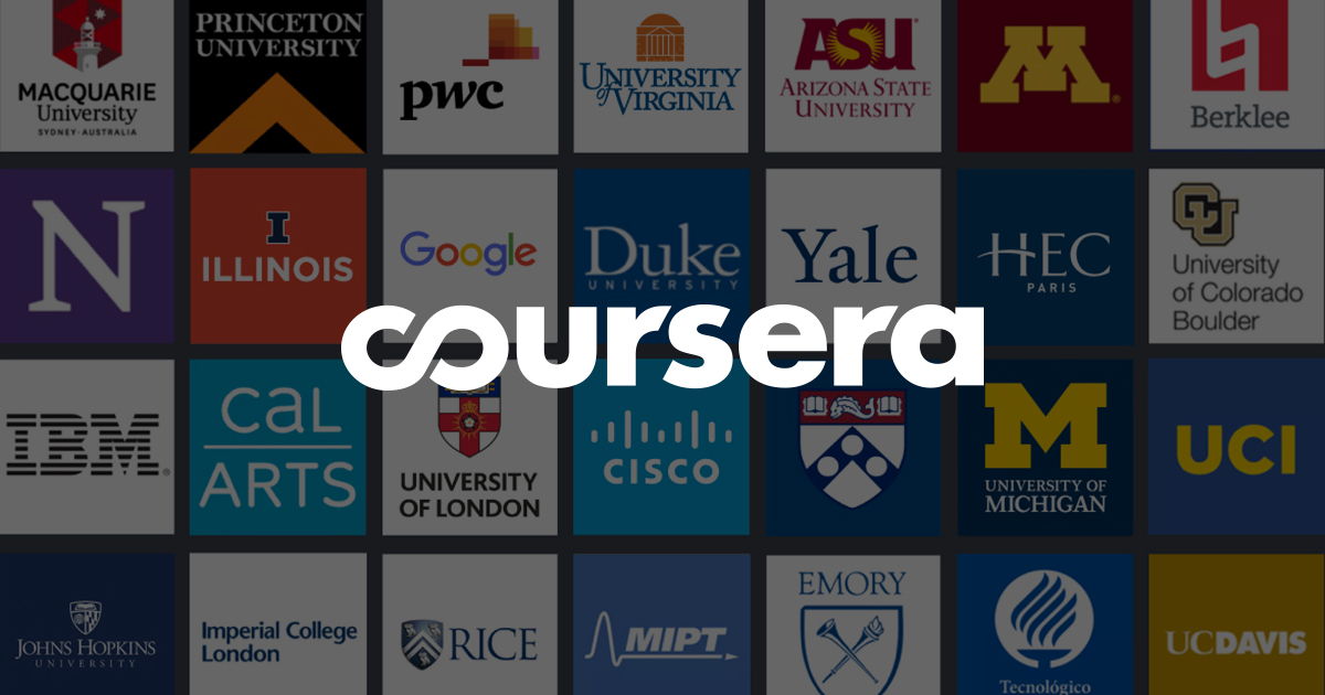 coursera and other free online courses
