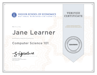 Illustration of Verified Certificate