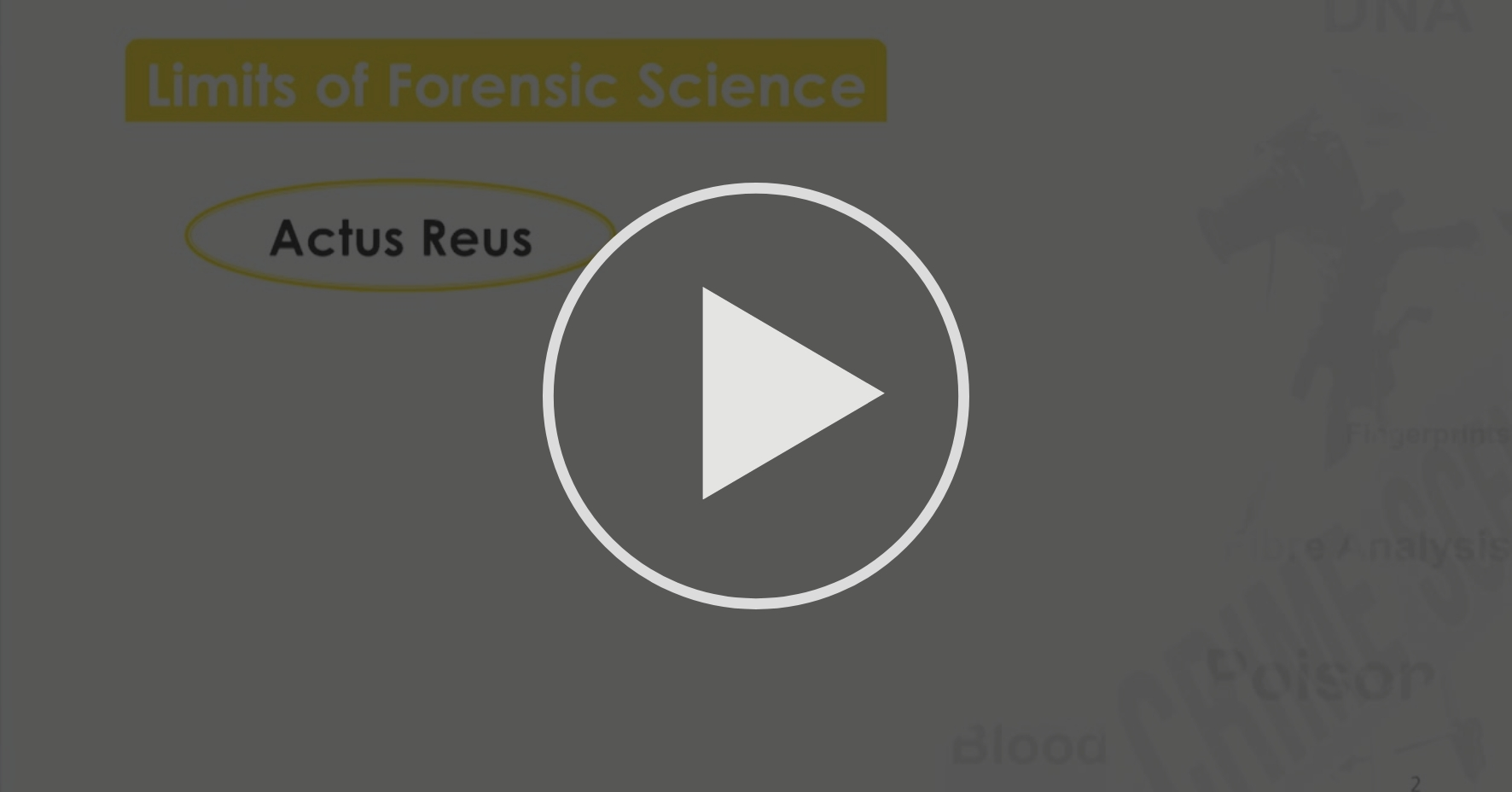 Week 1 4 Limits Of Forensic Science Introduction To Forensic Science Coursera
