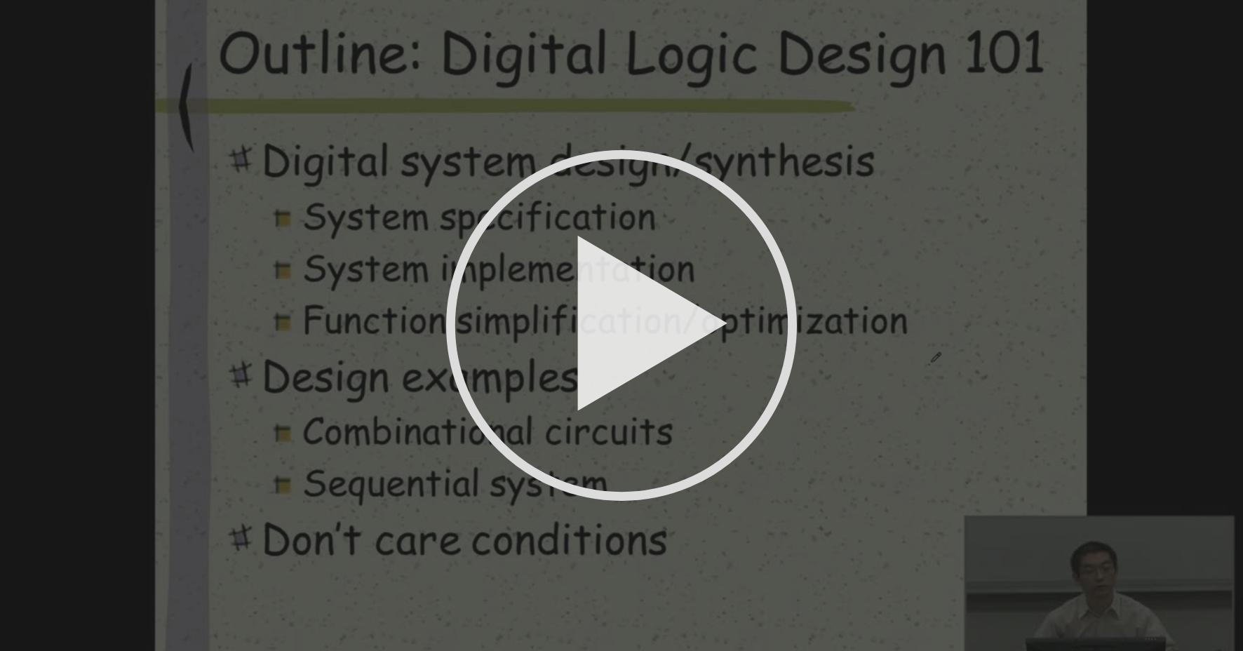 Digital System Specification Digital System Design Basics And Vulnerabilities Coursera