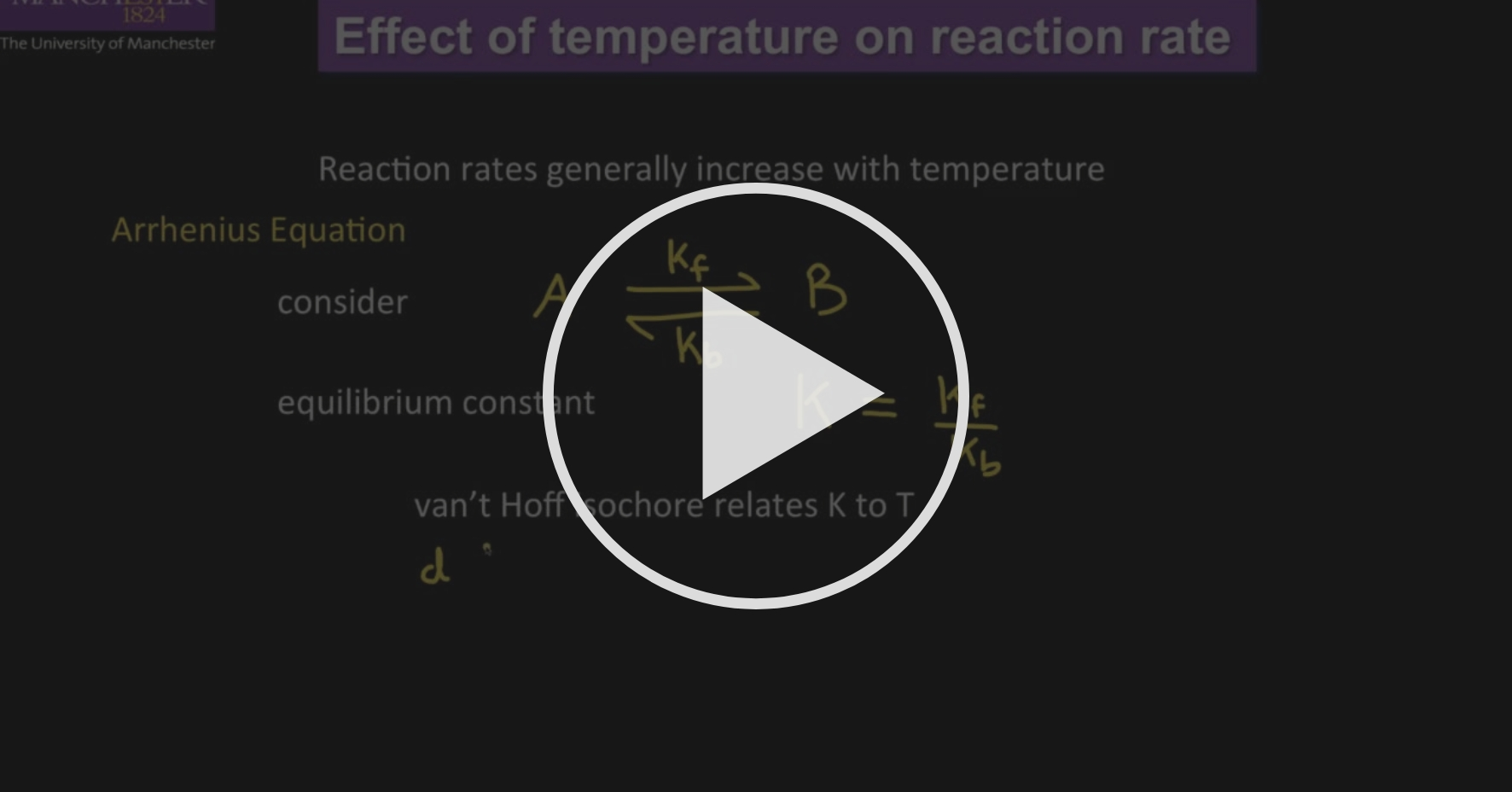 Effect of Temperature on Reaction Rate - Chemical Kinetics ...