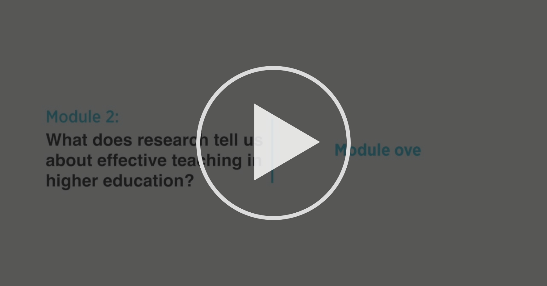 Module Overview What Does Research Tell Us About Effective Teaching In Higher Education Coursera