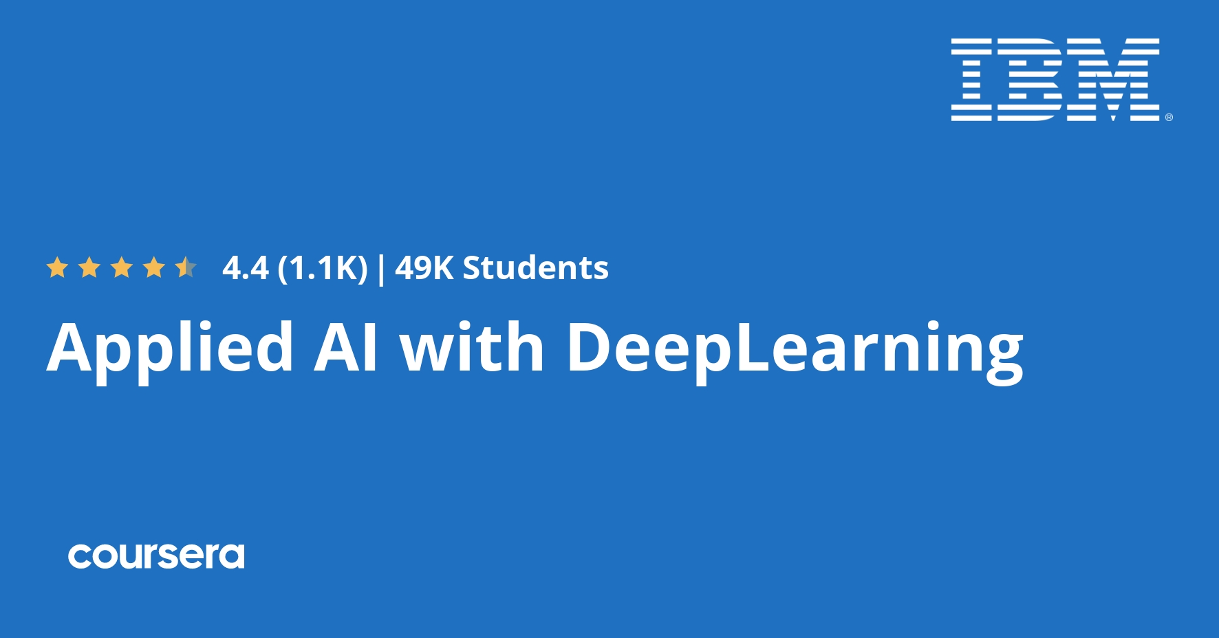 Applied Ai With Deeplearning Coursera