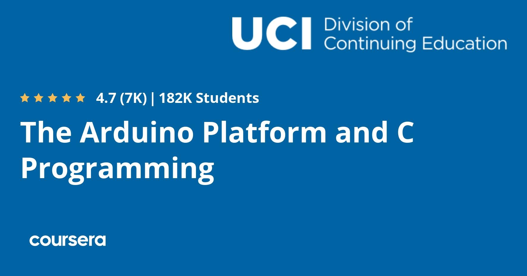 The Arduino Platform and C Programming (Coursera)