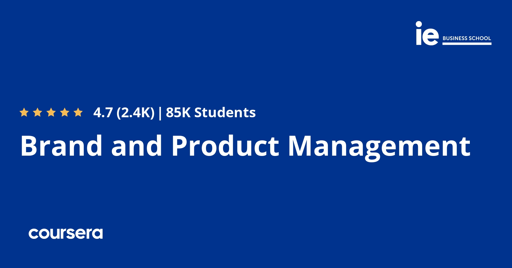 Brand and Product Management by Coursera