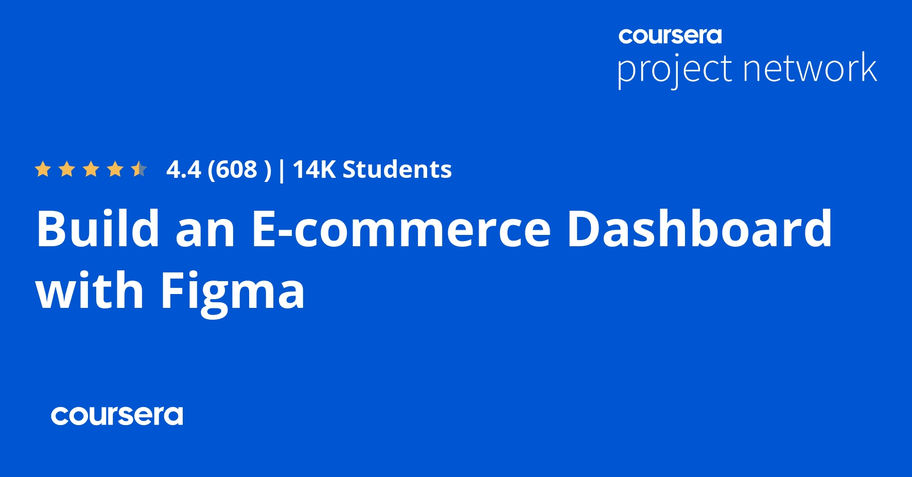 Build an E-commerce Dashboard with Figma