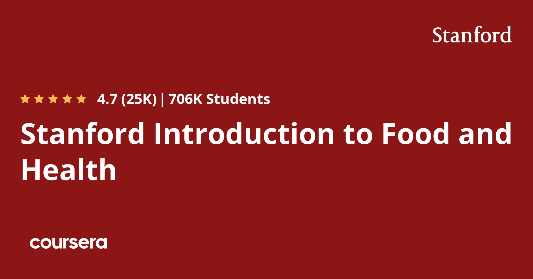 Stanford Introduction to Food and Health