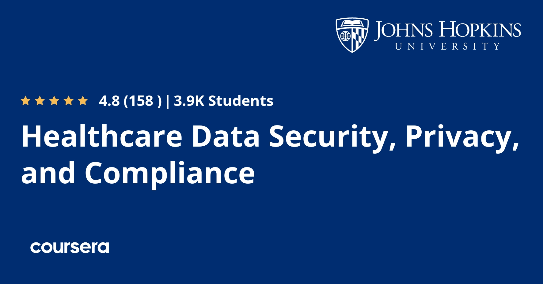 Healthcare Data Security, Privacy, and Compliance Coursera