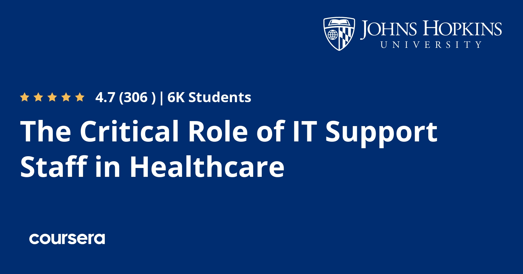 The Critical Role of IT Support Staff in Healthcare Coursera