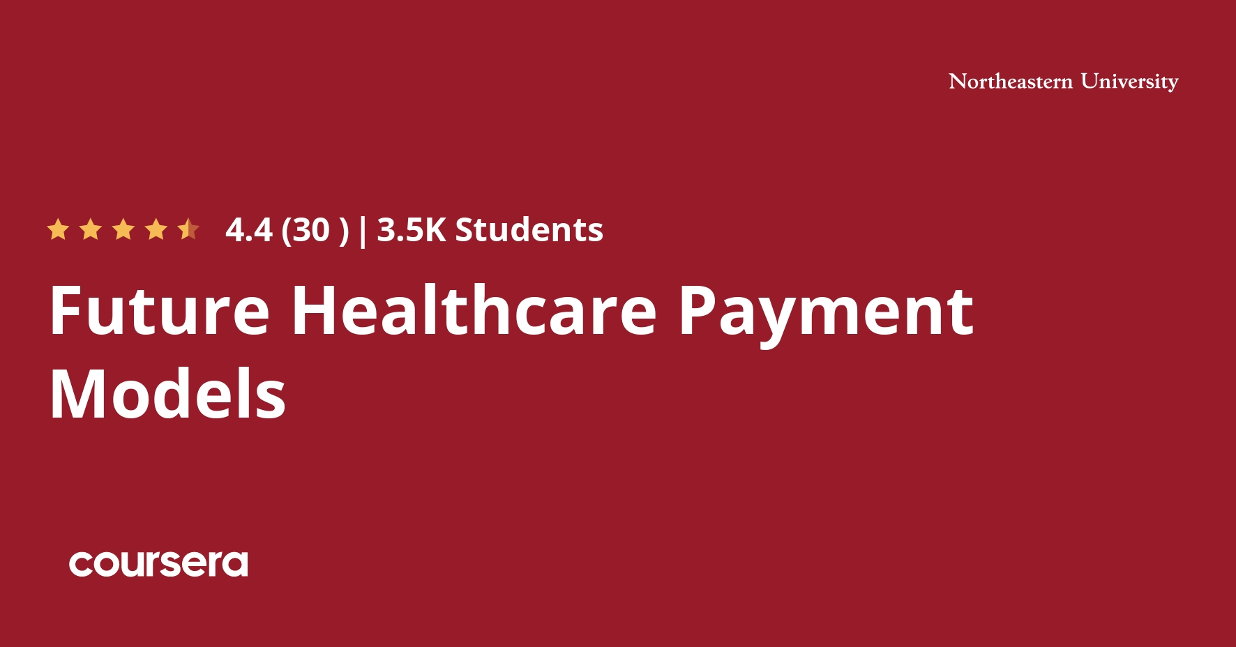 Future Healthcare Payment Models Coursera