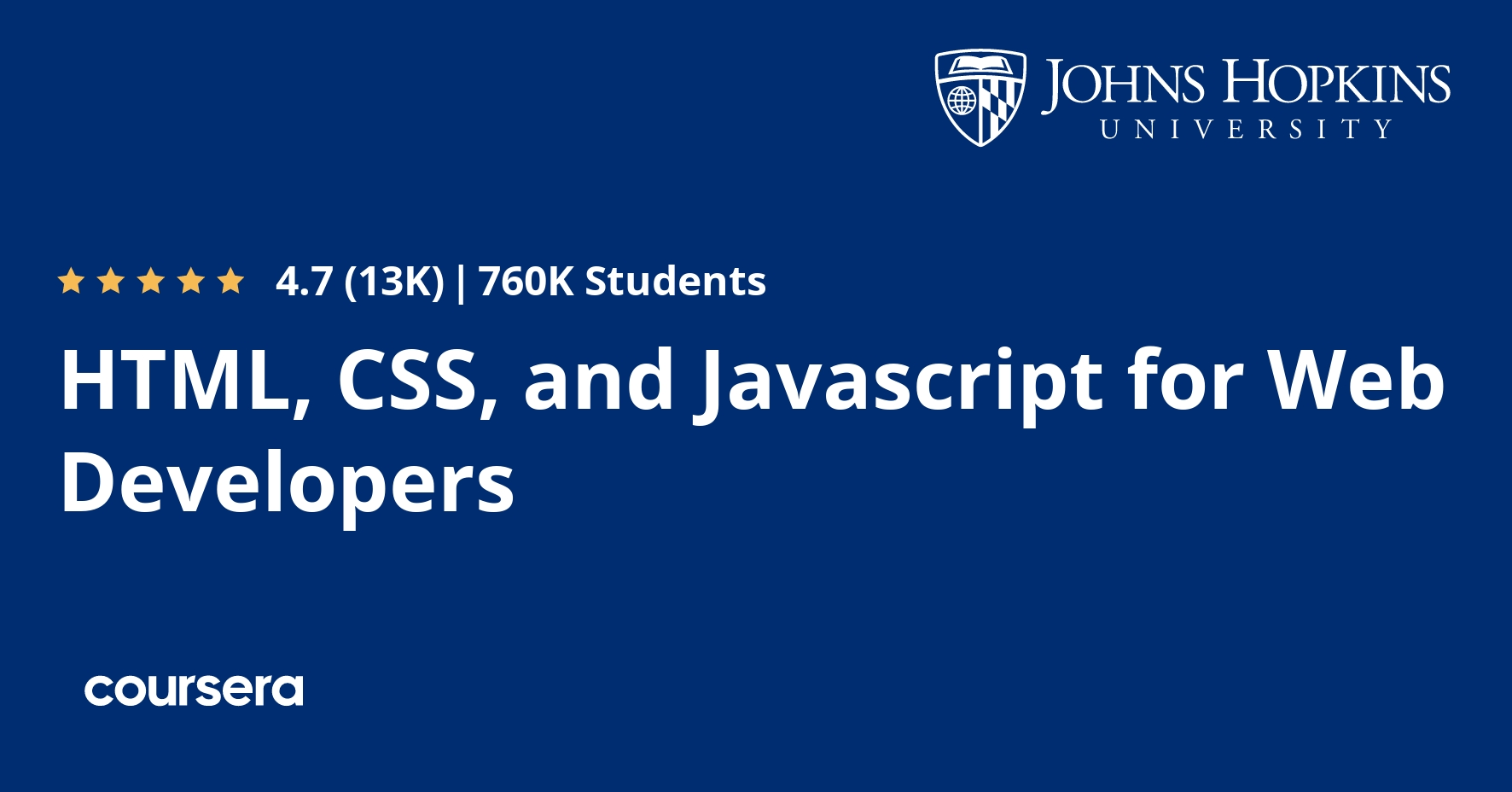 Html Css And Javascript For Web Developers Coursera
