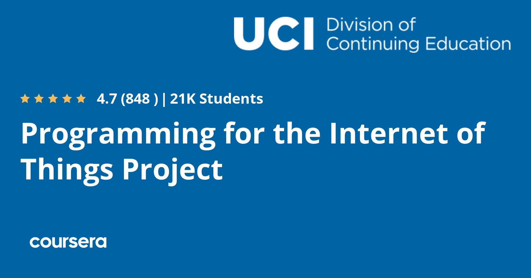 Programming for the Internet of Things Project (Coursera)