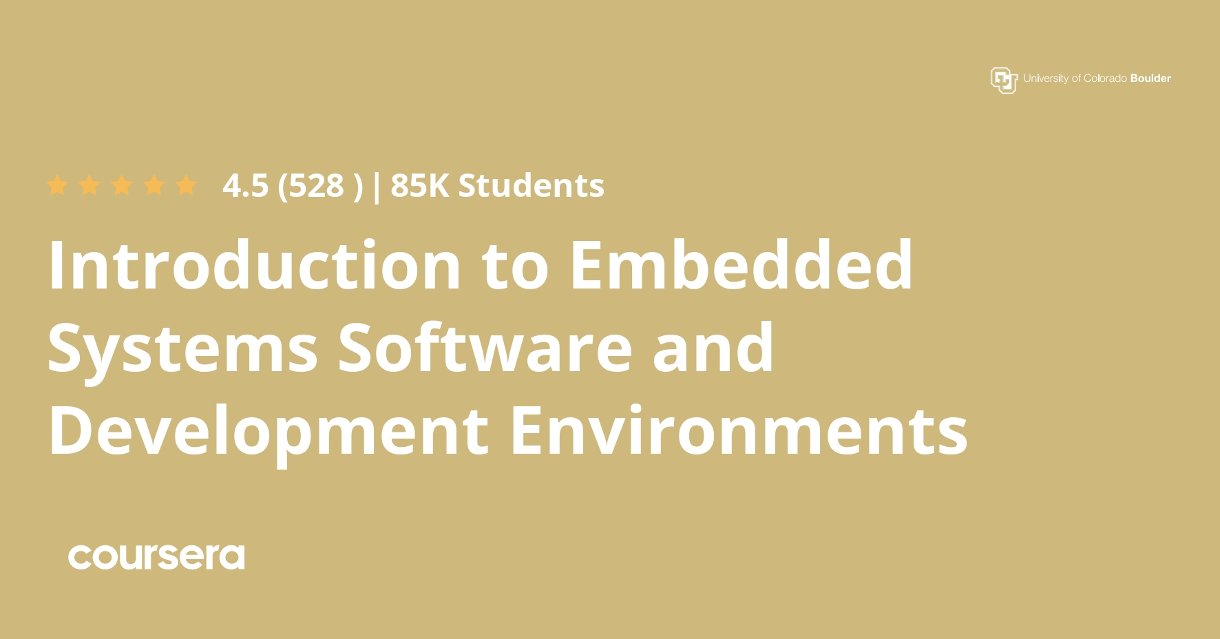 Introduction To Embedded Systems Software And Development Environments Coursera
