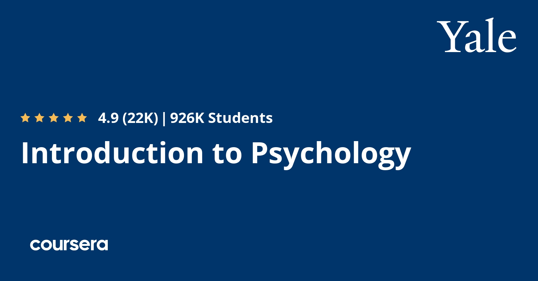 Introduction to Psychology | Coursera
