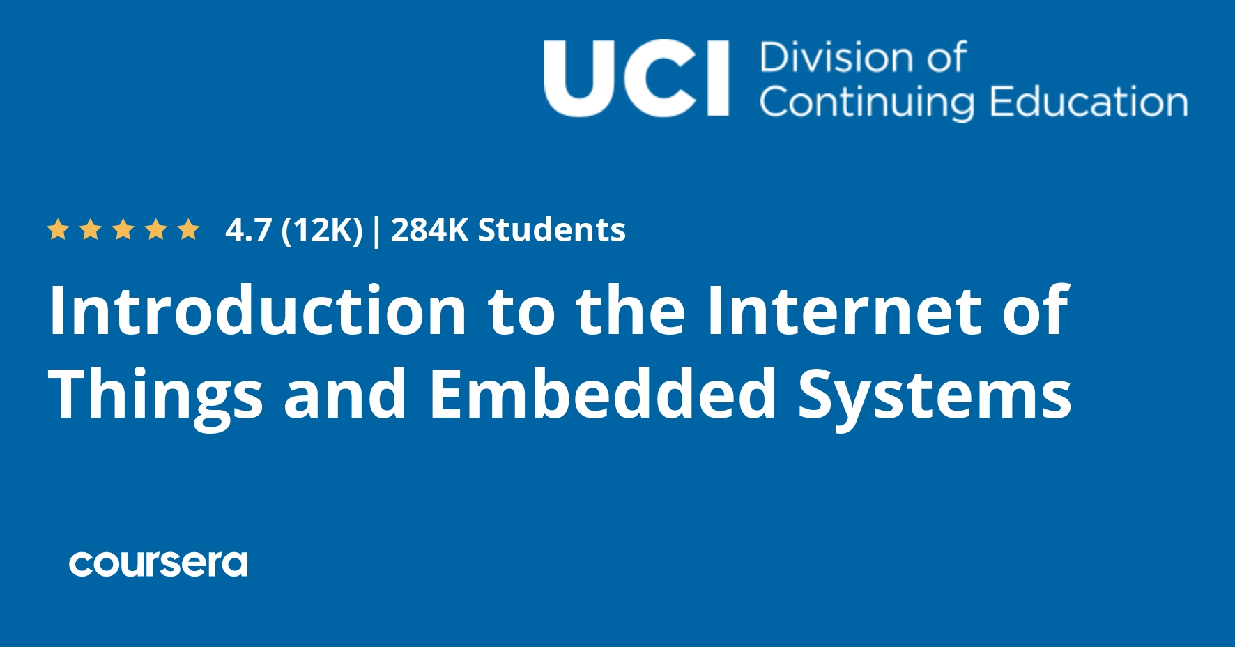 Introduction to the Internet of Things and Embedded Systems (Coursera)