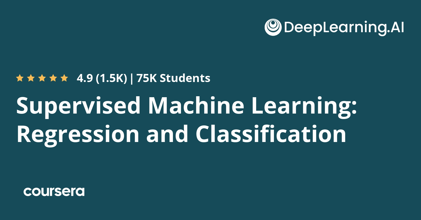 Machine Learning By Stanford University Coursera