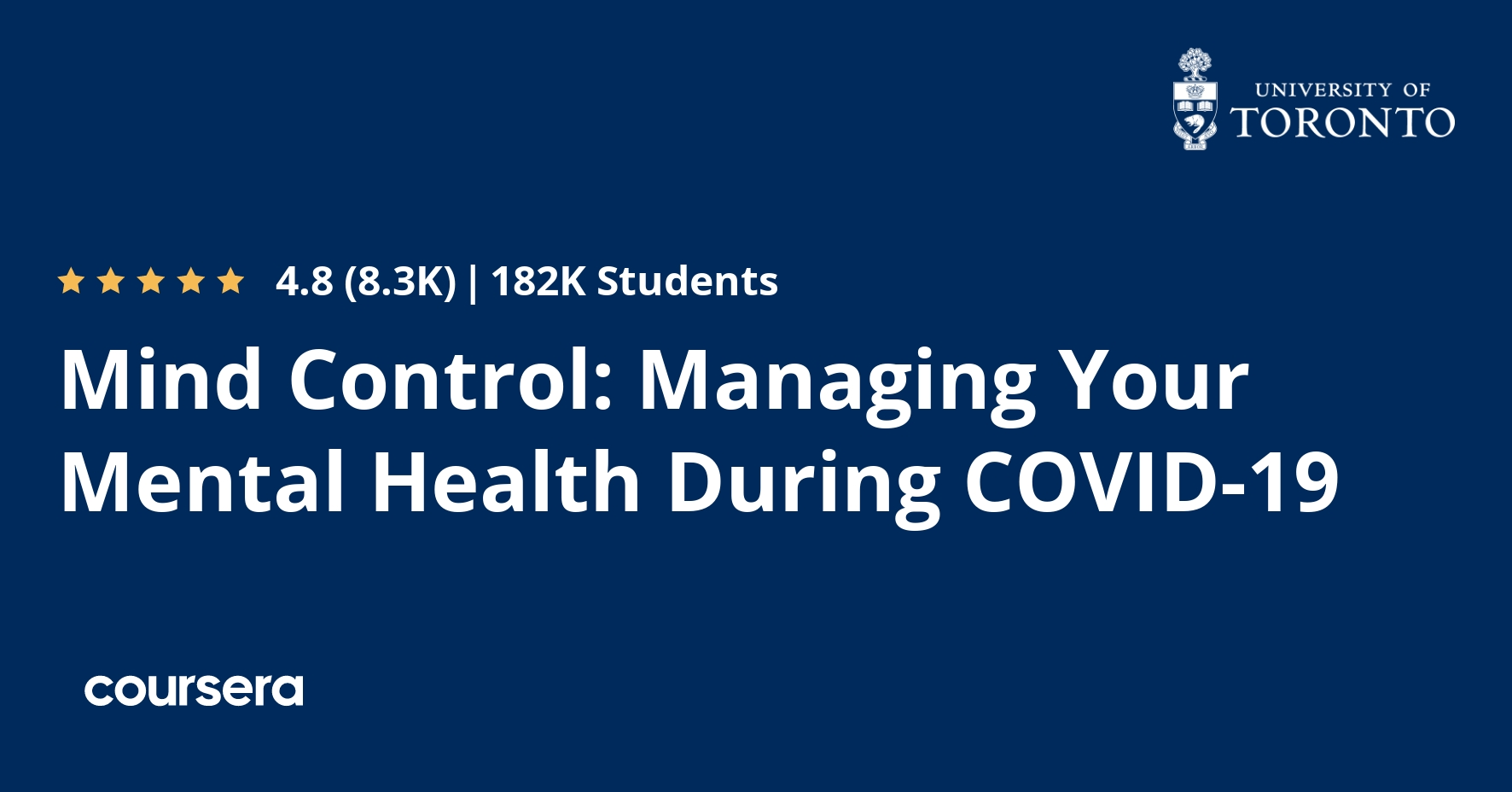Mind Control Managing Your Mental Health During Covid 19 Coursera