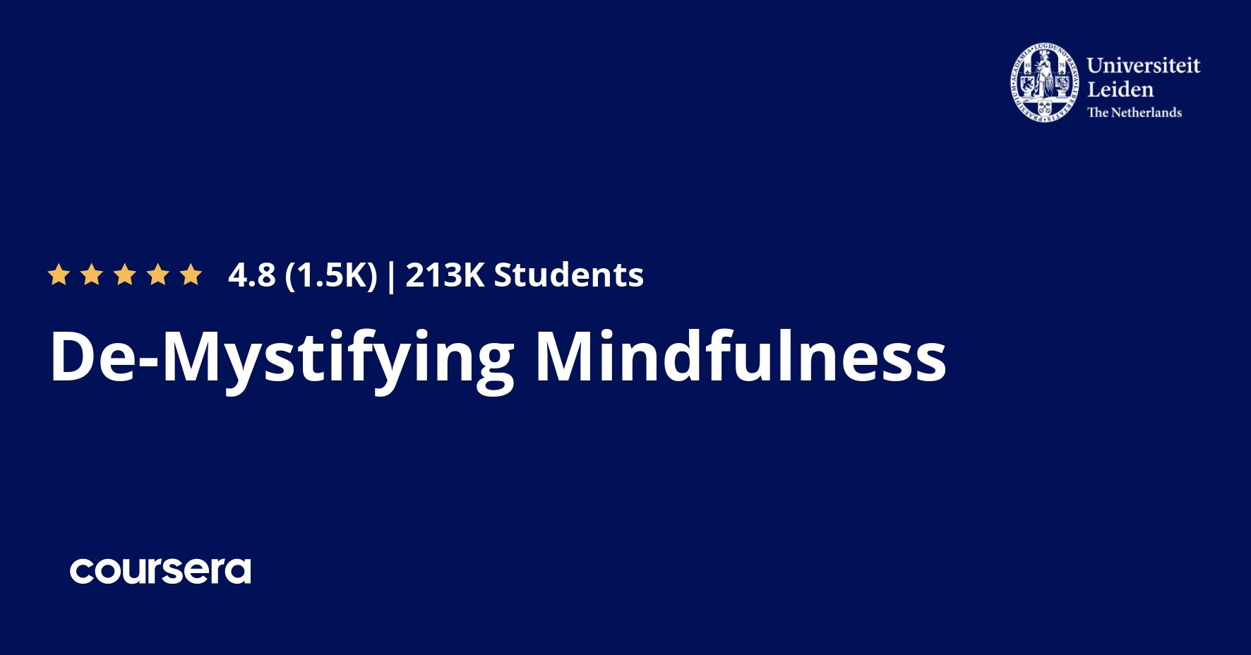 De-Mystifying Mindfulness | Coursera