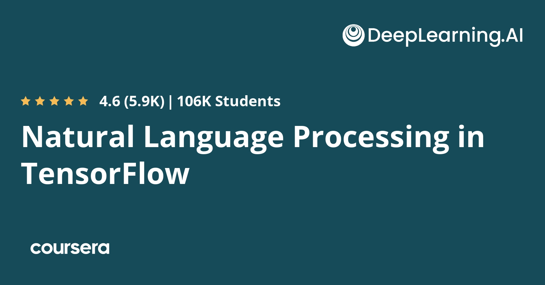 natural language processing in tensorflow coursera Course