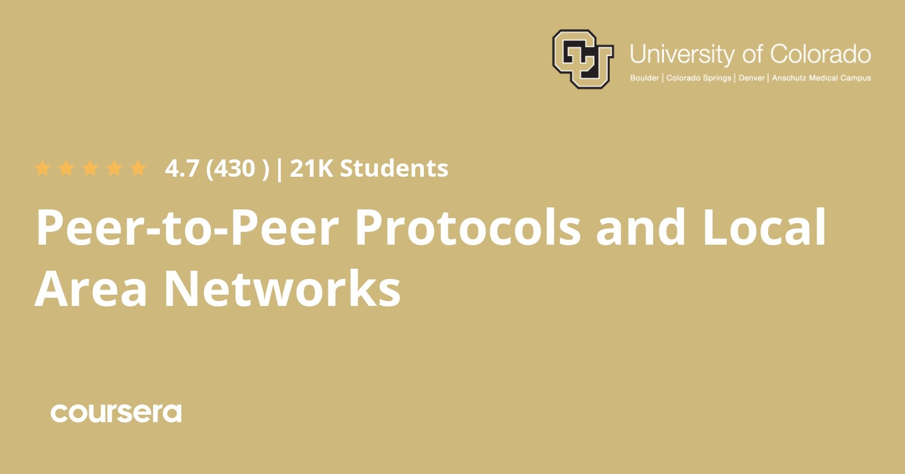 Peer-to-Peer Protocols and Local Area Networks (Coursera)