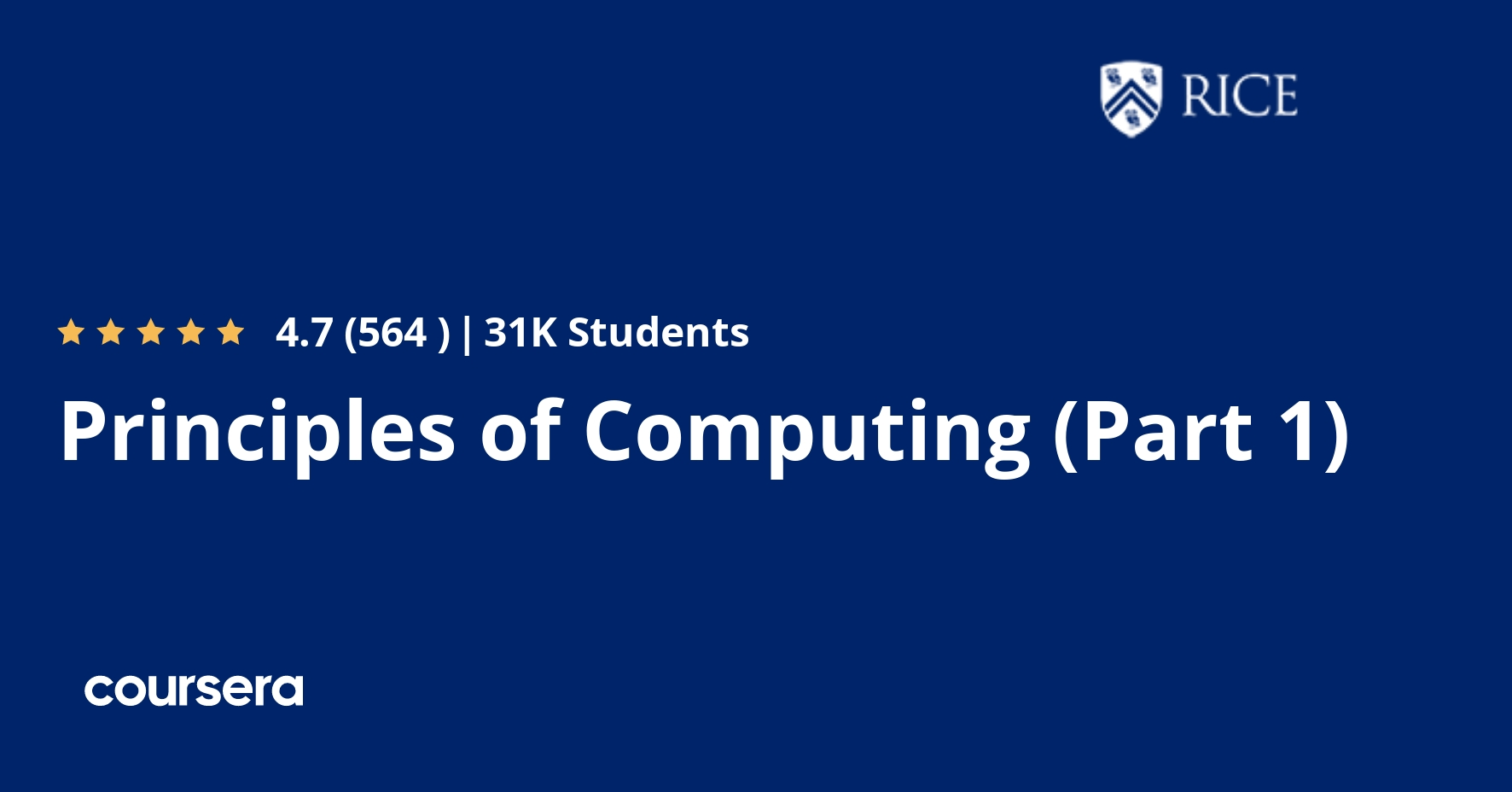 Principles of Computing (Part 1) (Coursera)