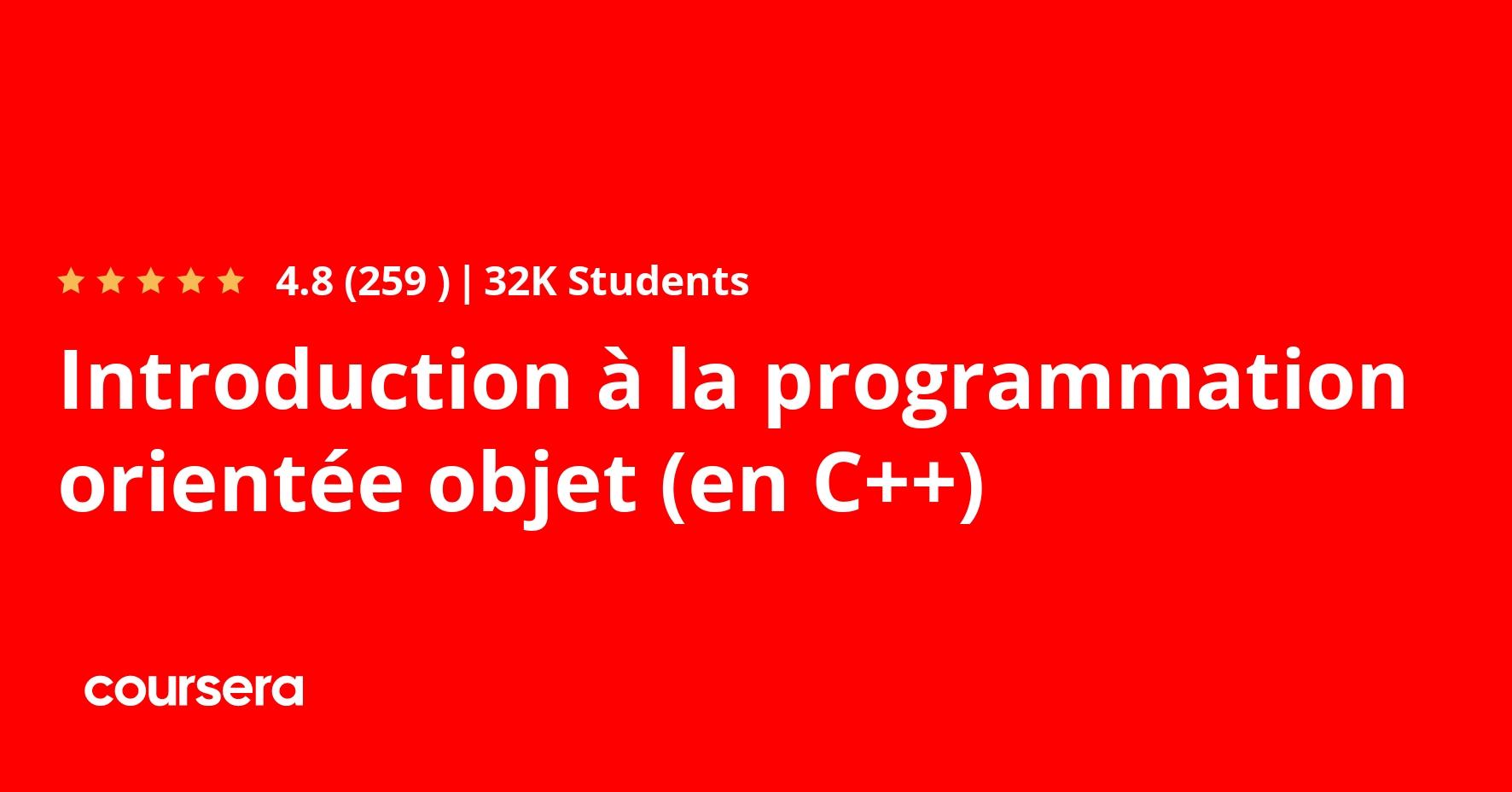 Introduction à la programmation orientée objet (en Java) Coursera
