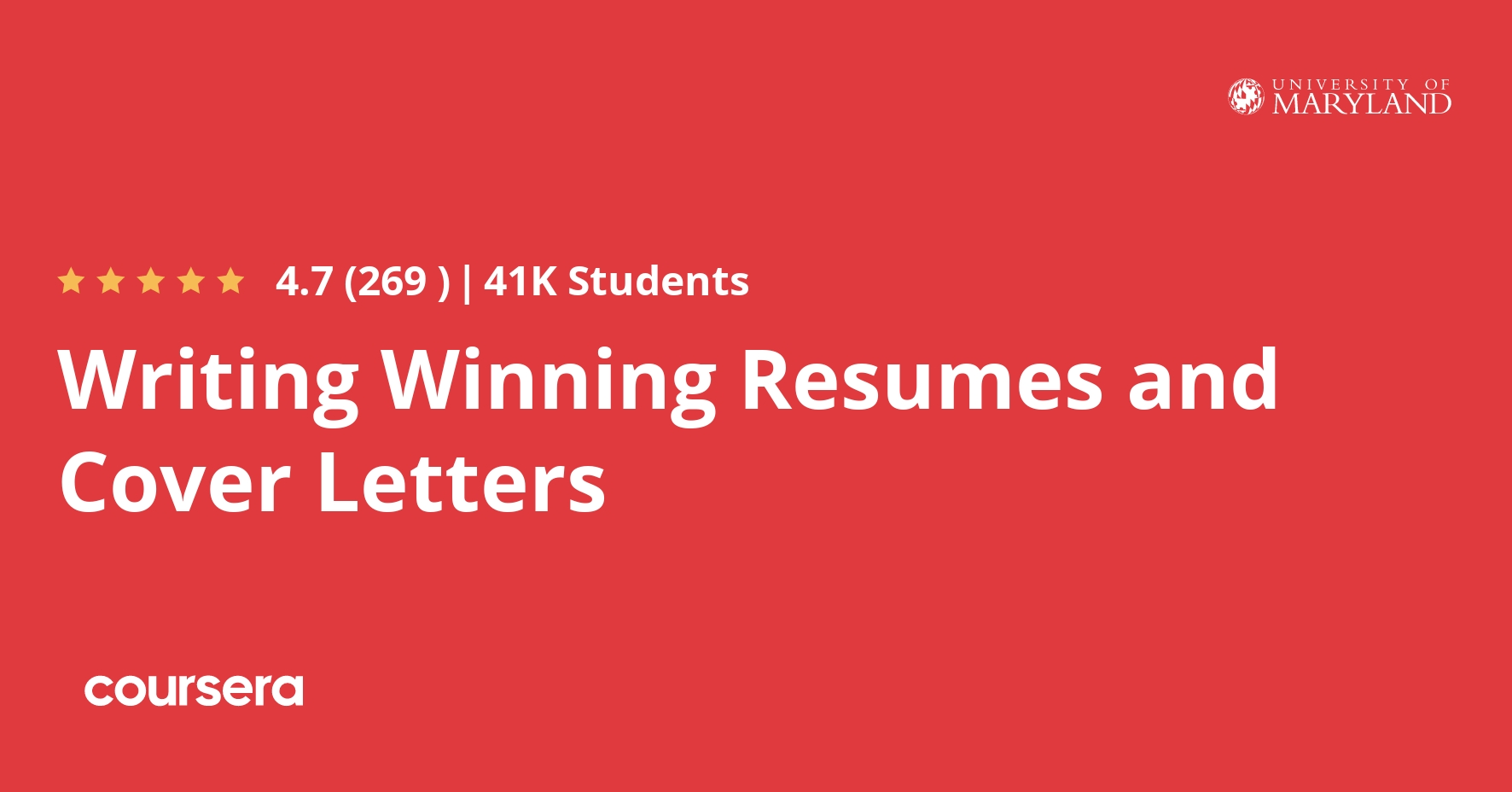 Writing Winning Resumes And Cover Letters Coursera