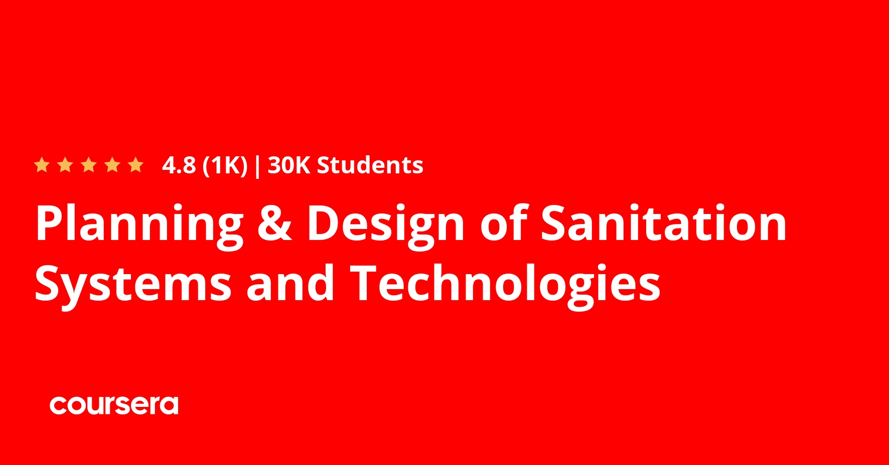 Planning & Design of Sanitation Systems and Technologies