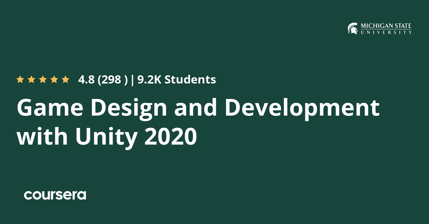 Game Design and Development with Unity 2020 Specialization