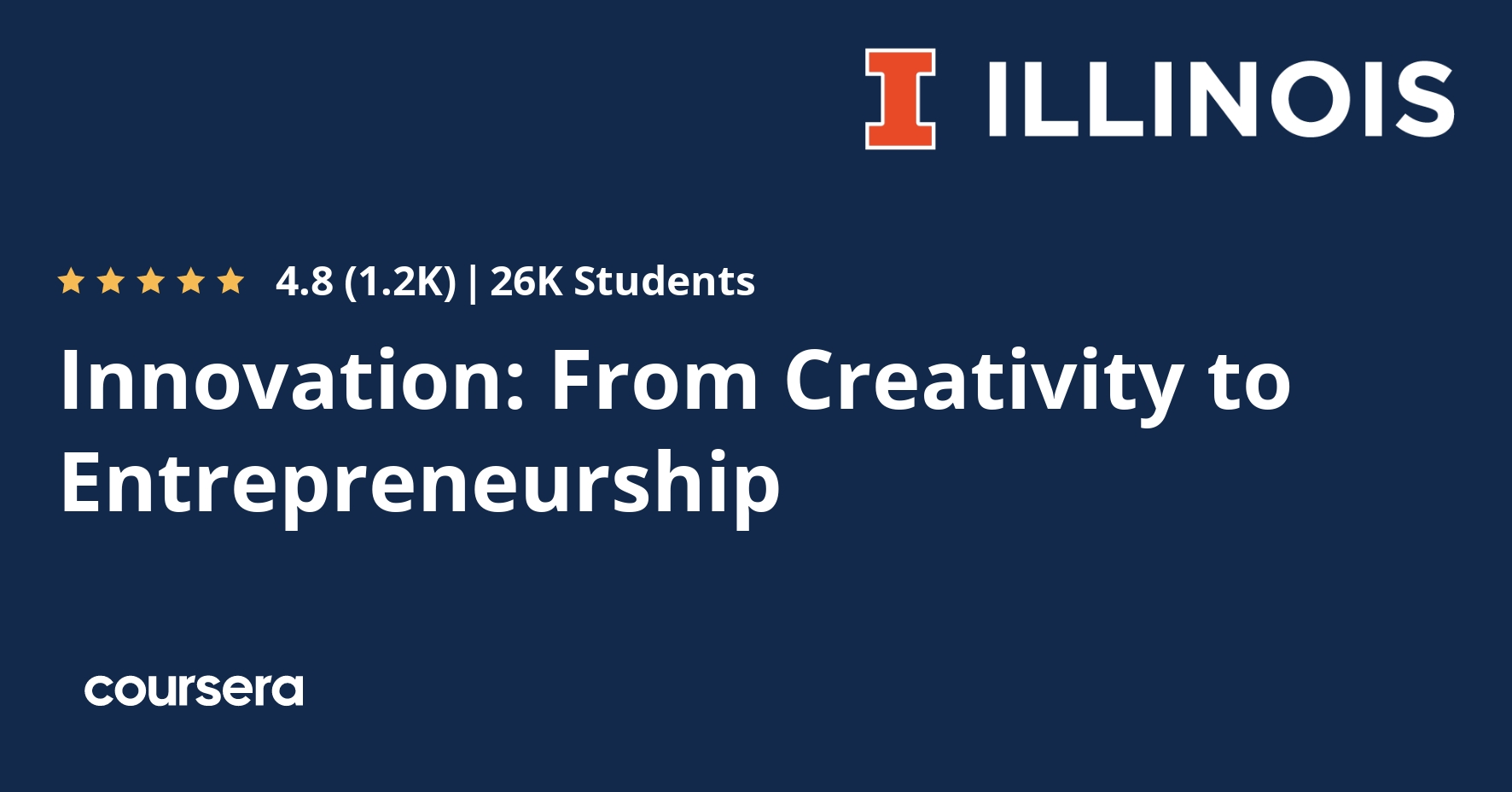 Innovation: From Creativity to Entrepreneurship | Coursera
