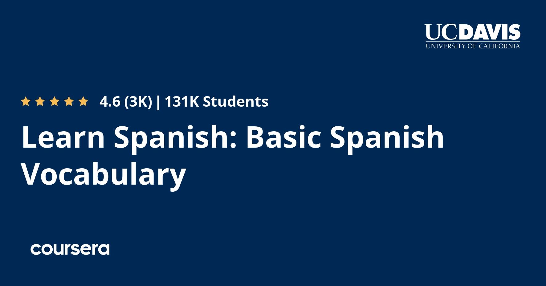 learn spanish basic spanish vocabulary coursera learn spanish basic spanish vocabulary