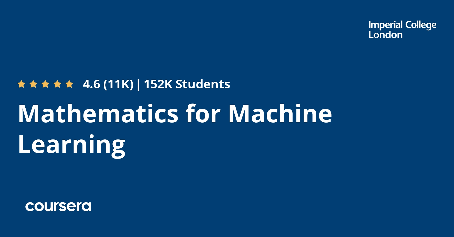 Mathematics For Machine Learning Coursera